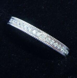 9ct White Gold Channel Set Diamond Half Eternity Ring, Size M1/2