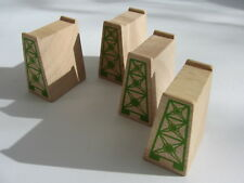 4 Wooden Track Supports for Wooden Train Track Set Brio  Thomas Friends ELC c2