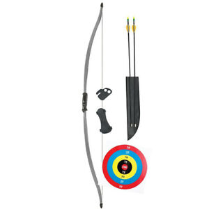 Bear Titan Youth Bow Set 60in 29lbs Age 12 and Up Armguard, Arrows, Finger Tab