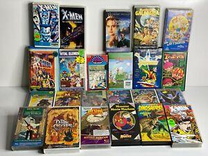 BULK LOT - VINTAGE - VHS - MOVIES - MOSTLY 1980s - 1990s Cartoons/Kids