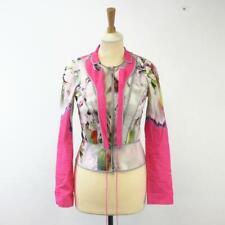 Vera Wang Vibrant Floral Print Contemporary Long Sleeved Cotton Ladies Top, UK 4