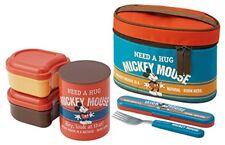 Japanese Thermal Lunch Box Set (Bento Box set) - Disney Mickey Mouse F/S