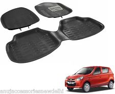 4D or 3D Crocodile Foot Mats Car mats Black Color for Maruti Suzuki Alto 800