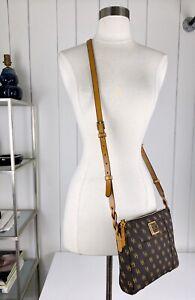 DOONEY & BOURKE chocolate brown signature 'marlee' crossbody bag