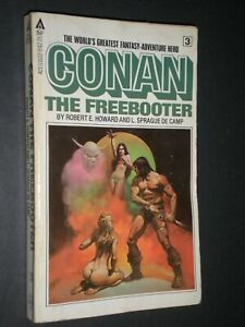 CONAN THE FREEBOOTER by Robert E. Howard L. Sprague De Camp NUDE Illus vtg PB