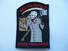 """US AIR FORCE NIMITZ /NINE WESTPAC 91 """"DEATH FROM ABOVE """" FLYING SUIT PATCH."""