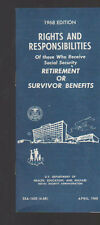 Rights & Responsibilities Social Security Retirement Benefits Booklet 1968