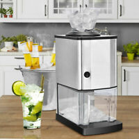 Tabletop Electric Stainless Steel Ice Crusher Shaver Machine Crushed Ice Maker