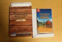 Stardew Valley Collectors Edition Nintendo Switch Software w/Box Game Anime