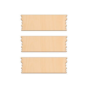 SIGN 18x7cm, Wood Craft Blank Door Wall Plaque Decoration