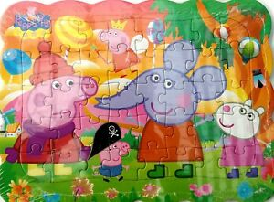 1x Peppa Pig New Friends Style Drawing 40 Pcs Jigsaw Puzzles Best Gifts for Kids