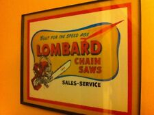Lombard Chainsaw Lumberjack Landscaper Framed Advertising Print Man Cave Sign