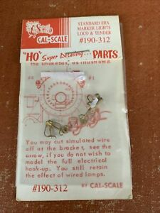 Cal-Scale HO scale 190-312- Locomotive Parts - Marker Lights Loco & Tender - NEW