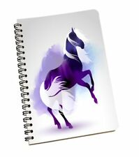Horse Print A5 Spiral Journal Diary Notebook Wire Bound Ruled Paper Sheets