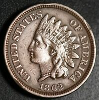 1862 INDIAN HEAD CENT - With LIBERTY - VF VERY FINE