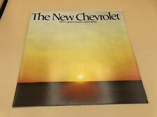 1977 77 Chevy Chevrolet Impala Caprice Brochure Catalog Book Ad Flyer