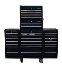 17 US Pro Tools Tool Steel Black Chest Box 30 drawers! 2 x side cabinet finance