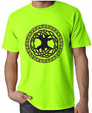 CELTIC TREE OF LIFE NEON T-SHIRT - Pagan Druid Wicca - Colour Choice - FREE P&P