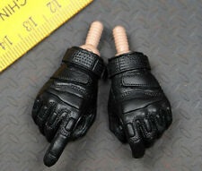 "1/6 Black Glove Hand With Joint Adapter For 12"" Hot Toys HT TTL PH Body Doll"