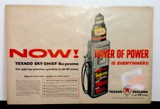 Vintage 1957 Original Texaco Tower Of Power 2 Page Centerfold Magazine Print Ad