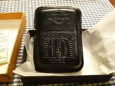 VINTAGE ZIPPO HARLEY DAVIDSON BLACK LEATHER ENCASED LIGHTER 1990s