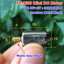 Mini M20 Motor DC 3V 5V 6V 30000RPM High Speed Micro 10mm DC Motor Worm Gear DIY