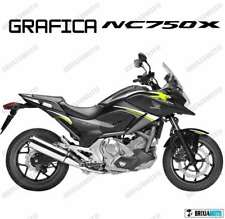 ADESIVI DECAL STICKERS HONDA NC750X NC 750 X RACING CARENA GRAFICA BIANCO GIALL