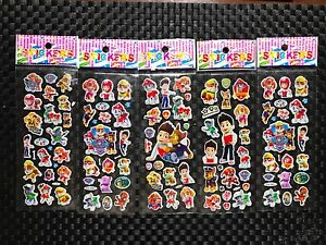 Paw Patrol stickers sheet buy 5 get 5 free stickers Sheet birthday party AU