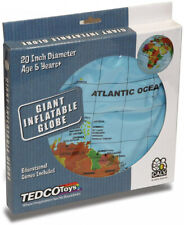 World Globe 20 in. Inflatable Kids Map Beach Ball Planet Earth Geography