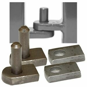 Weld On Gate Hinge Set - 12mm Pin & Hole - Welding