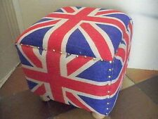 "Hocker ""Britische Flagge"" Used Optik Shabby Chic Gutmann"