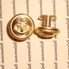 Knöpfe gold 16mm für Schulterklappen Schraubverschluß Marine mit Anker  ##224