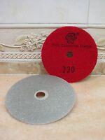 "100mm 4"" Grit 320 THK Diamond FLAT LAP polish lapping wheel hook loop backed"