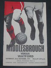 Middlesbrough V Watford 1971/2
