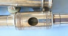 Rudall Carte & Co. London Boehm system silver Flute