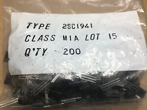10pcs X 2SC1941 M-SPEC   (FACTORY SEALED BAG OF 200PCS)