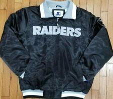 Authentic Black Oakland Raiders Starter Brand NFL Tough Seasons Satin Jacket
