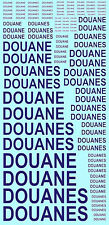 Douanes Bleu French Inch IN Blue Blue 1:43 Decal