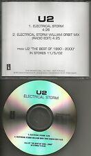 U2 Electrical Storm 2TRX w/ RARE EDIT MIX TST PRESS PROMO DJ CD single MINT USA