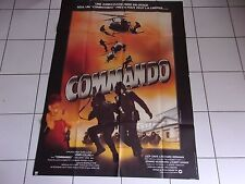 affiche originale 120 x 160 film COMMANDO (1982) avec Richard Widmark TBE