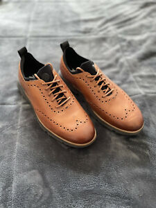 Mens Cole haan 4 ZERØGRAND Wingtip Oxford Brown Leather Shoes 11 W