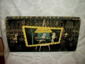 1950s FRENCH POODLE TRAYS KENTLEY ROMANCE OF FIFI AND PEPE ORIGINAL BOX SET 4