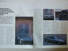 ARTICOLO ASTON MARTIN VANTAGE ZAGATO -- 1988
