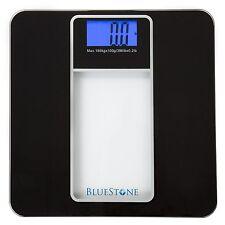 Bluestone Digital Glass Black Bathroom Scale with Lcd Display and Backlight