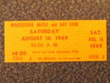 Authentic 1-Day Ticket from the Original 1969 Woodstock Festival