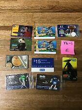 Lot of various phone cards. These are New And used. variety of themes.