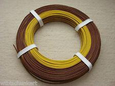 50 m flexibele Zwillingslitze /Kupferlitze -gelb/braun - 2 x 0,14mm²
