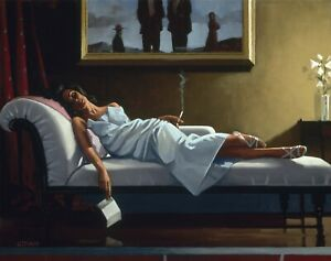 JACK VETTRIANO THE LETTER WALL COVER 30x20 Inch Canvas Framed READY TO HANG! UK
