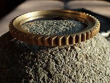 THE-SHARK-ONE VINTAGE GOLD CUSTOM BEZEL FOR SEIKO SKX007 7S26 - 020 DX-01-C