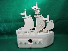 Unfinished Wood Decorative Birdhouse Three Mast Pirate Ship & Crows Nest